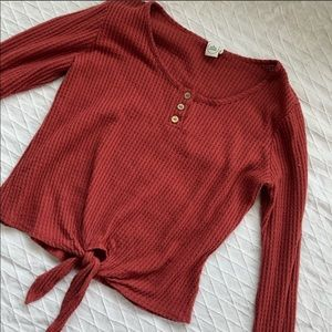 Paper Crane Long sleeve with tie